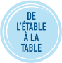 Étable à la table