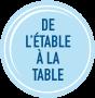 Étable à la table